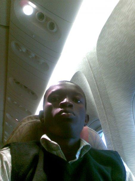 On Board my flight to mumbai, - July  2009